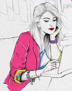 Genç Kız Çizimleri