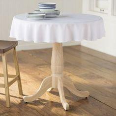 "Wayfair Basics™ Wayfair Basics Polyester Round Tablecloth Size: 132"" Round, Color: White"