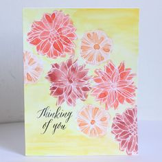 Welcome to our Stamp of the Month Blog Hop! We will be featuring December's SOTM, which is Thoughtful Flowers, a set of 14 stamps.      If ...