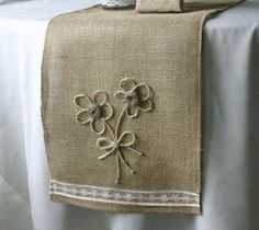 Burlap wedding decorations  Burlap table runner  by Bannerbanquet, $24.00