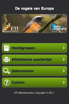 Site met verschillende vogel-apps! Van onze Nederlandse collegae