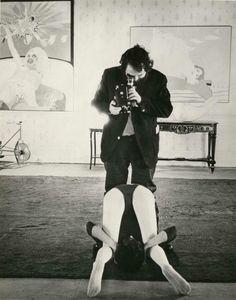 Stanley Kubrick filming A Clockwork Orange