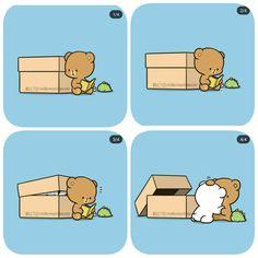 Cute Couple Cartoon, Cute Cartoon Pictures, Cute Love Pictures, Cute Love Cartoons, Chibi Cat, Cute Chibi, Cute Emoji Combinations, Cute Bear Drawings, Teddy Bear Pictures