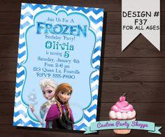 FROZEN PRINTABLE INVITATION, Custom Frozen Invitation For Girls Birthday Party, Frozen Party Decor, Winter Birthday, Custom Party Shoppe on Etsy, $7.50