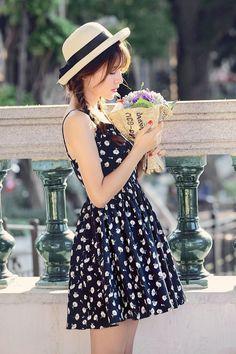 Japanese fashion chiffon A word dress