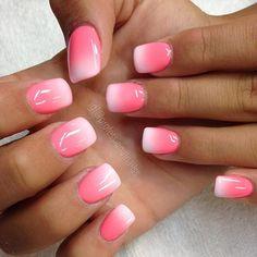 Semi-permanent varnish, false nails, patches: which manicure to choose? - My Nails Sns Nails Colors, Pink Ombre Nails, Ombre Shellac, Ombre Nail Colors, Fancy Nails, Pretty Nails, Dipped Nails, Professional Nails, Powder Nails