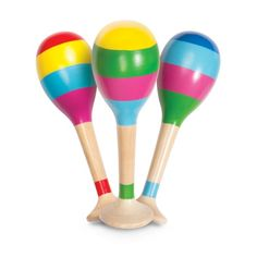 A great set of maracas and you're the centre of the band! tall Suitable from 6 months Price is per maracas Instruments, Tambourine, Party Bag Fillers, Stripes Design, Wooden Toys, Bright Colors, Natural Wood, Indoor, Online Purchase