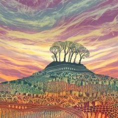 Contemporary British landscape artist Rebecca Vincent