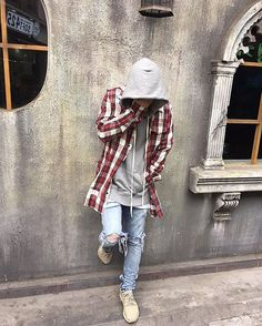 Check out for daily fashion inspiration. Outfit by ✅ Flannel - Off White Hoodie - Fear of God Jeans - Custom Shoes - Yeezy Boost 350 _________________________________ Our Fashion Family: Urban Fashion, Daily Fashion, Street Fashion, High Fashion, Fashion 2016, Stylish Hoodies, Cool Hoodies, Off White Hoodie, Off White Flannel
