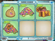 Diamond Exchange, Diamond Shop, Animal Jam, Comics, Animals, Shopping, Animales, Animaux, Animais