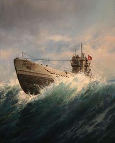 "German WW2 ""U-boot"" - Augusto Ferrer-Dalmau"
