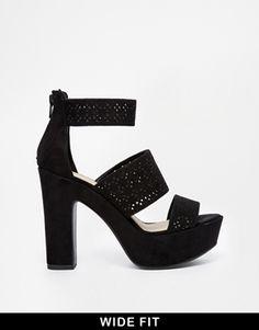 New Look Wide Fit Talent Lazer Cut High Heeled Sandals