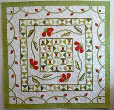 """A Walk in the Park"" from the book, Stitched Together. Very pretty and delicate applique."
