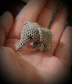 "Mini Elephant - Free Amigurumi Crochet Pattern English and German - PDF Version - Click to"" download"" here: http://www.ravelry.com/patterns/library/elefant---elephant"