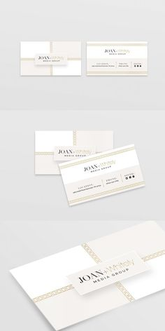 Joan+Whitely Business Card Template