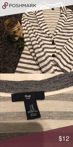 Striped Blazer Striped Blazer. Cotton. Size medium from Gap. Worn once. GAP Jackets & Coats Blazers