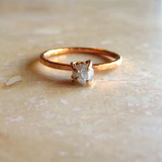 This handmade raw herkimer diamond ring is a beautiful gift idea for a Maid of Honor, Bridesmaid, or Mom of the Bride. By Alison Titus. http://emmalinebride.com/gifts/gemstone-jewelry-bridesmaid-gifts/
