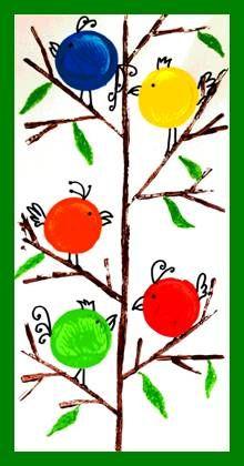 Ptáčci na stromě – otisk