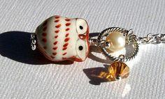 Owl Necklace Girls Necklace Owl Jewelry Girls Jewelry Cute Little Brown Kawaii Owls