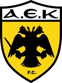 AEK Athens Primary Logo on Chris Creamer's Sports Logos Page - SportsLogos. A virtual museum of sports logos, uniforms and historical items. Soccer Logo, Football Soccer, Soccer Teams, Basketball Quotes, Soccer Party, Sports Teams, Football Mexicano, Jersey Atletico Madrid, Badges