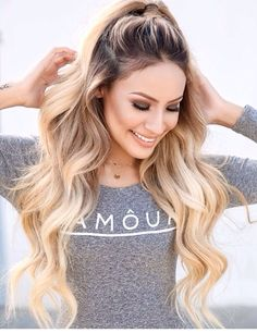 Love the hairstyle. Simple and cute.