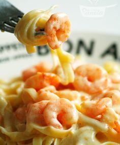 macarrão com camarão - Naminhapanela.com Blog de Culinária