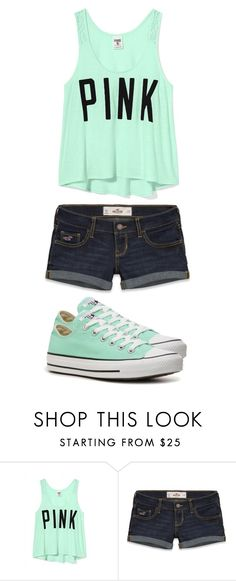 """Untitled #134"" by mufassa ❤ liked on Polyvore featuring Victoria's Secret, Hollister Co. and Converse"