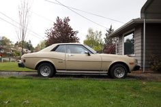 1976 toyota celica.  Mine was white... and a very nice little car all around.  This would be a fun restoration project one day.