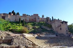 Málaga, Andalucía Four Square, Louvre, Building, Travel, Viajes, Buildings, Destinations, Traveling, Trips