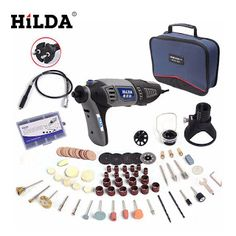 HILDA 220V 180W Dremel Electric Rotary Power Tool Mini Drill with Flexible Shaft 133pcs Accessories Set Storage Bag (32681064909)  SEE MORE