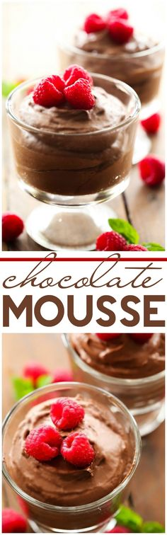 Chocolate Mousse... This Mousse is creamy, rich and absolutely divine! Perfect for all chocolate lovers!