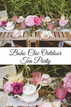 Express Your Individuality With Boho Home Decor Kids Boho Party, Boho Garden Party, Girls Tea Party, Bohemian Party, Boho Party Ideas, Garden Theme, Bohemian Decor, Outdoor Birthday, Garden Birthday