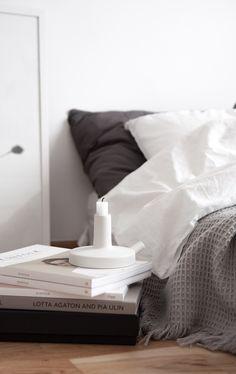 Scandinavian, bedroom, details. From decordots blog