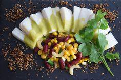 von kuechenereignisse.com Heilbutt-Ceviche mit Stangensellerie-Passionsfrucht-Sauce