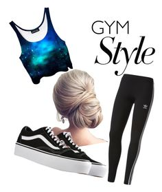 """simple and style"" by kayleetjee04 ❤ liked on Polyvore featuring adidas and Vans"