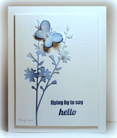 Birgit Edblom, you have done it again! I love how you used the Flutterby stamp set (from TechniqueTuesday) on this card. So sweet & happy!