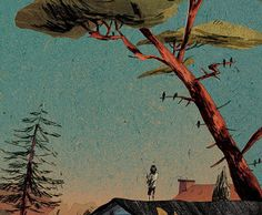Anton Van Hertbruggen: from Memoires of a Suburban Utopia Anton Van, Animation Background, Visual Development, South Of France, Drawing Poses, Stargazing, Art World, Graphic Illustration, Cute Art