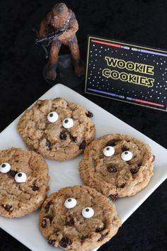 Wookie Cookies for a Star Wars party | CatchMyParty.com