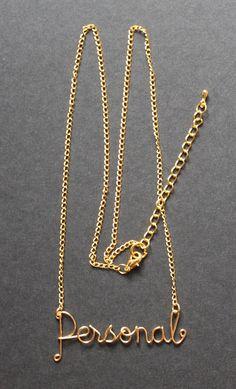 Personalizzati collana nome oro filo a mano fino di FabulousWire