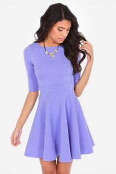 Obesses with the Just a Twirl Lavender Dress at LuLus.com! #lovelulus #spring