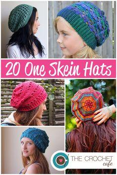 Great stash-busting crochet hat patterns