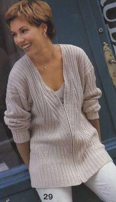 Beige Top & Jacket free knitting graph pattern