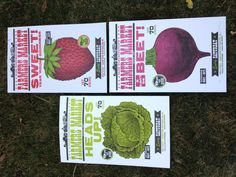 My friend's beautiful work. She crafted all of our wedding stationary. Farmer's Market Posters by Igloo Letterpress