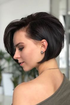 Bob Hairstyles For Fine Hair, Short Hairstyles For Women, Hairstyles Haircuts, Short Haircuts, Modern Haircuts, Thick Hairstyles, Wedding Hairstyles, Hairstyle Short, Formal Hairstyles