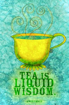 What my Tea says to me is an offshoot of What my Coffee says to me. So if you like tea visit often to see new creations. Coffee Time, Tea Time, Tea And Books, Cuppa Tea, All About The Tea, Tea Art, My Tea, Tea Recipes, High Tea