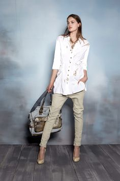 Boho Chic, Shabby Chic, Sarah Pacini, Elisa Cavaletti, Sport Chic, Facon, Trousers, Pants, Military Jacket