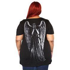 Weeping Angels Plus Size V-neck Ladies' Tee | ThinkGeek