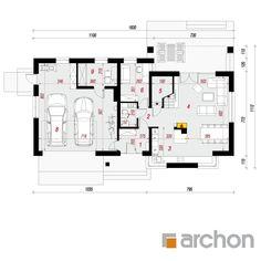 Dom w skrzydłokwiatach 2 Floor Plans, Diagram, House Design, Gallery, House, Roof Rack, Architecture Design, House Plans, Home Design