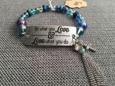 Do what you love charmed bracelets by FaithfulBeadsbyAsh on Etsy