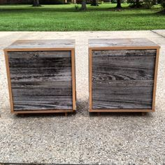 Reclaimed Wood Bedside Table Grey by RevivalSupplyCo on Etsy